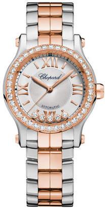 Chopard 30mm Happy Sport Two-Tone Watch with Diamonds