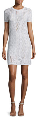 Theory Nenalo Iras Crocheted-Knit Dress, White $455 thestylecure.com