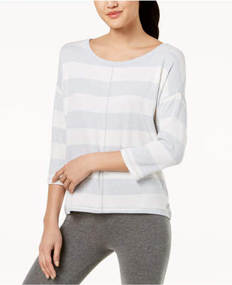 Calvin Klein Striped Boat-Neck Top