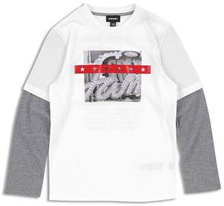 Diesel Boys' Taltix Layered Graphic Tee - Big Kid