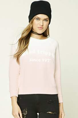 Forever 21 Road Trippin Dip-Dye Sweatshirt