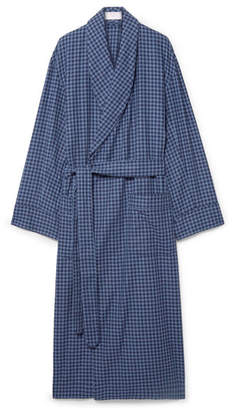Emma Willis Gingham Brushed-Cotton Robe