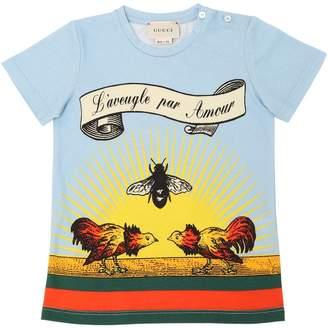 Gucci L'aveugle Par Amour Print Jersey T-Shirt