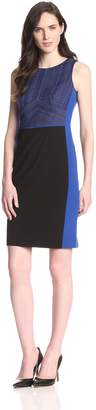 Nine West Women's Slvls Sheath dress with Waist and Side Seam Inserts