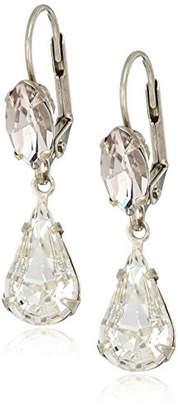 Sorrelli Womens Snow Bunny Teardrop Navette French Wire Drop Earrings