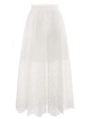 Zimmermann Heathers Scallop Long Skirt
