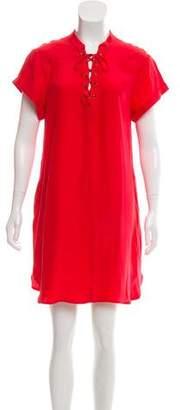 Frame Silk Lace-Up Dress