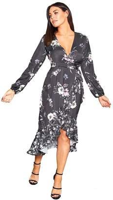 Jessica Wright Sistaglam Loves Jessica Sistaglam Loves Floral Print Wrap Dress