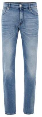 BOSS Relaxed-fit jeans in bright-blue BCI denim