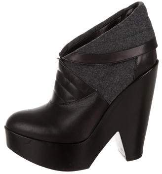 Derek Lam Leather Platform Booties