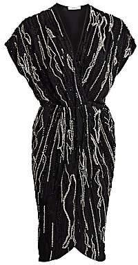 Amen Women's Beaded Wrap Dress