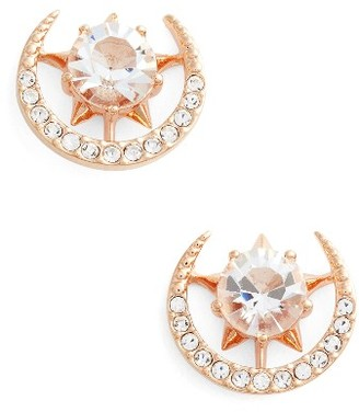 Women's Nadri Wishes Moon Stud Earrings $40 thestylecure.com