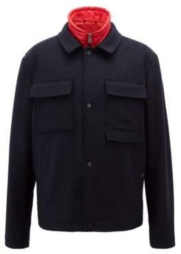 BOSS Hugo Three-in-one water-repellent jacket detachable vest 38R Open Blue