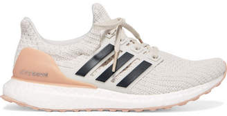 adidas Ultraboost Rubber-trimmed Primeknit Sneakers - Off-white