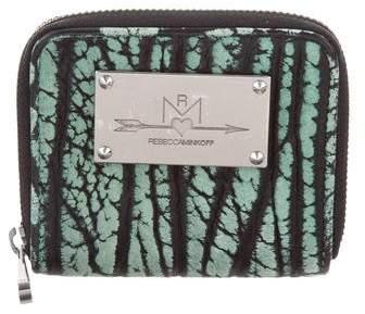 Rebecca Minkoff Leather Zip Wallet - BLACK - STYLE