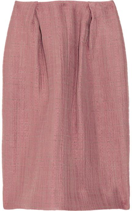 Marni Crepe textured-pattern skirt