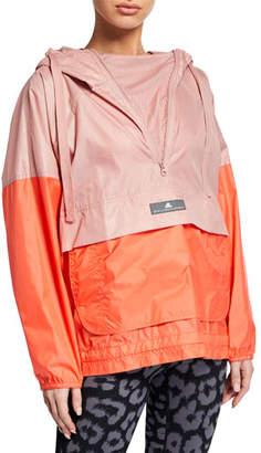 adidas by Stella McCartney Colorblock Mesh Hoodie Wind Jacket