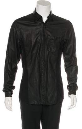 Skingraft Leather & Knit Shirt