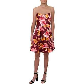 Dar Lin Bee Darlin Women's Floral Satin Tube Party Dress