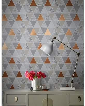 Graham Brown Copper Reflections Geometric Wallpaper