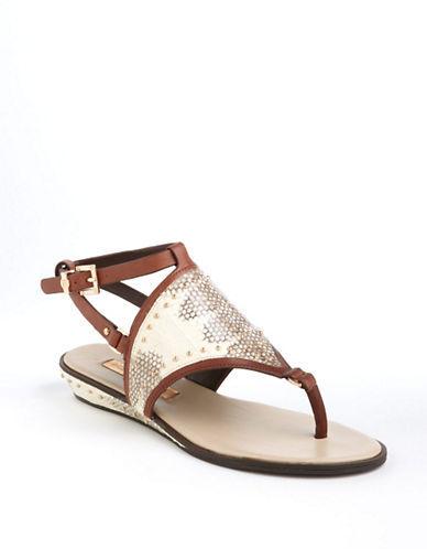 BCBGMAXAZRIA Bahari Snakeskin Sandals