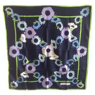 Christian Dior Vintage Blue Silk Silk handkerchief