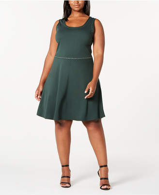 Rosie Harlow Trendy Plus Size Juniors' Studded Tank Dress