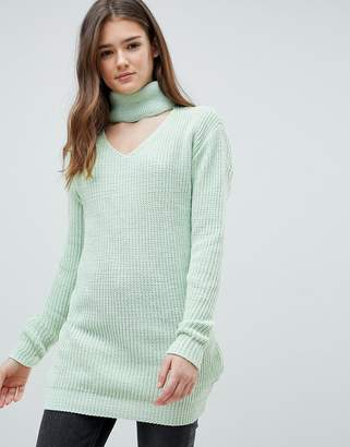 Glamorous Choker Neck Sweater