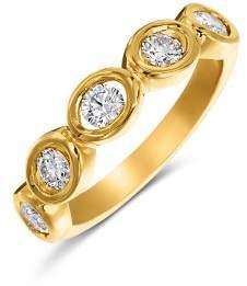 Oasis Gumuchian 18K Yellow Gold Diamond 5 Stone Band