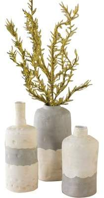 Bungalow Rose Ceramic Bottle 3 Piece Table Vase Set