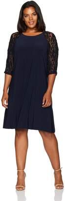 Julian Taylor Women's Plus Size Lace Sleeve Dress