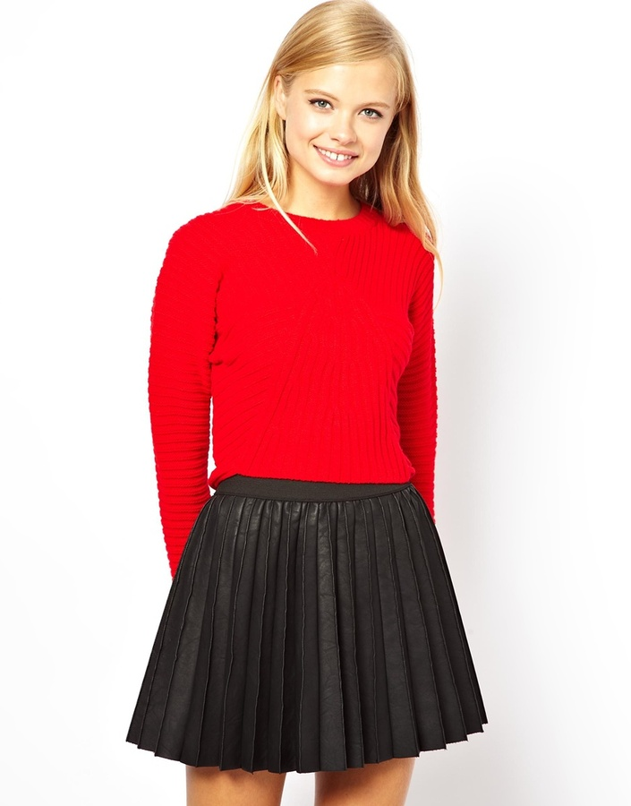 ASOS Cropped Sweater With Rib Detail