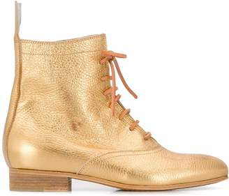 Forte Forte metallic lace-up boots