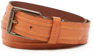 Ted Baker London Stitch Detail Leather Belt $75 thestylecure.com