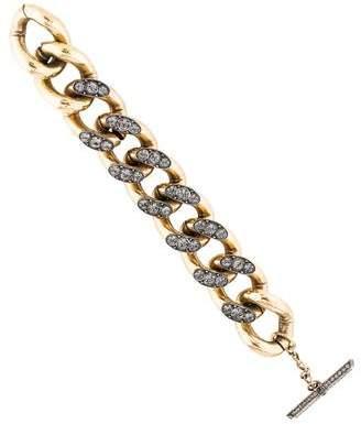 Lanvin Crystal Curb Link Bracelet