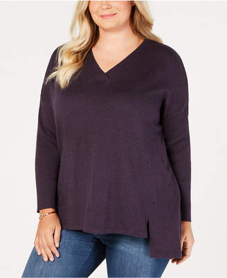 Style&Co. Style & Co Plus Size High-low Over-sized Tunic Sweater