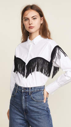 Derek Lam 10 Crosby Fringe Shirt