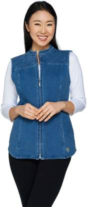 Factory Quacker DreamJeannes Zip Front Vest with Quilting Detail