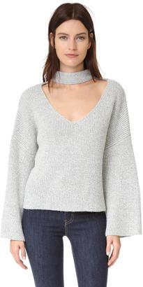 ENGLISH FACTORY V Neck Sweater $80 thestylecure.com
