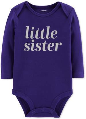 Carter's Baby Girls Little Sister Cotton Bodysuit