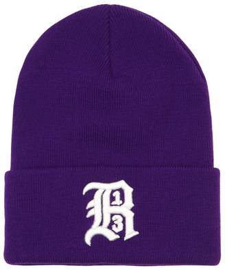 R 13 Embroidered Knit Beanie Hat