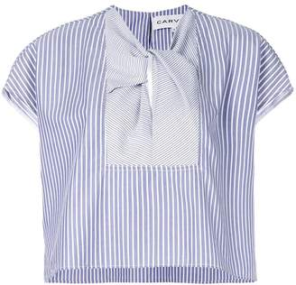 Carven striped short sleeve blouse