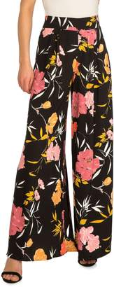 GUESS Charissa Floral-Print High-Rise Palazzo Pants