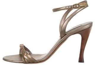 Bottega Veneta Satin Ankle-Strap Sandals