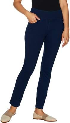Denim & Co. Regular Stretch Ankle Pants with Pockets
