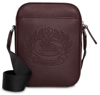 ea338a3ba5a1 Burberry Small Embossed Crest Leather Crossbody Bag