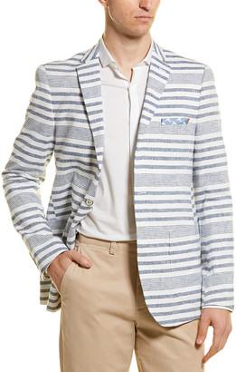 Paisley & Gray Linen-Blend Slim Fit Blazer