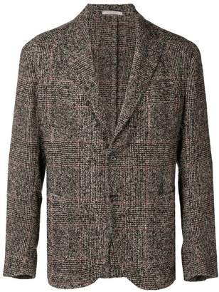 Eleventy checked button blazer
