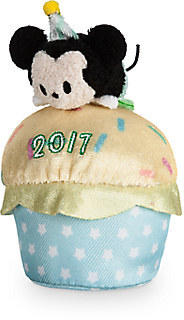 Mickey Mouse ''Tsum Tsum'' Plush - Birthday Cupcake 2017 - Mini - 4''