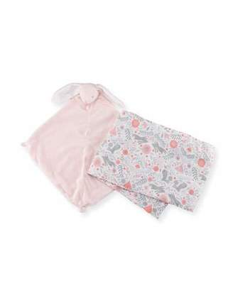 Angel Dear Take Me Home Bunny Swaddle and Blankie Gift Set